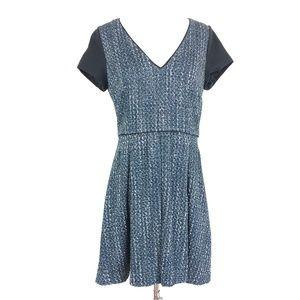 Banana Republic Acrylic Tweed Pleated Dress